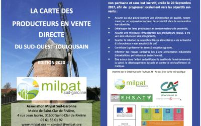MiLPAT réédite sa carte des producteurs en vente directe