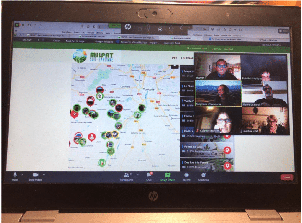 Les membres de MiLPAT réunis en visioconférence